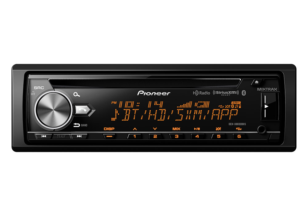 Bluetooth HD Radio and SiriusXM Ready Pioneer DEH-X8800BHS CD Receiver with MIXTRAX